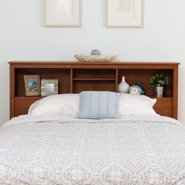 chelsea cherry full queen bookcase headboard free. Black Bedroom Furniture Sets. Home Design Ideas