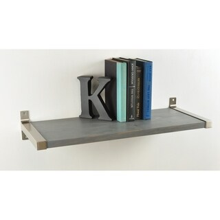 Large 12 in. wide Modern Farmhouse Shelf with Silver Bracket Hardware