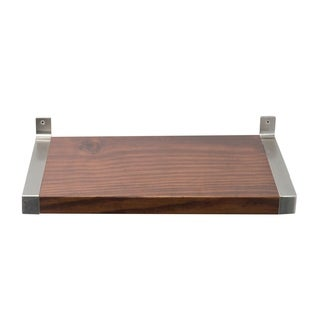Large 12 in. wide Modern Wood Shelf with Silver Bracket Hardware