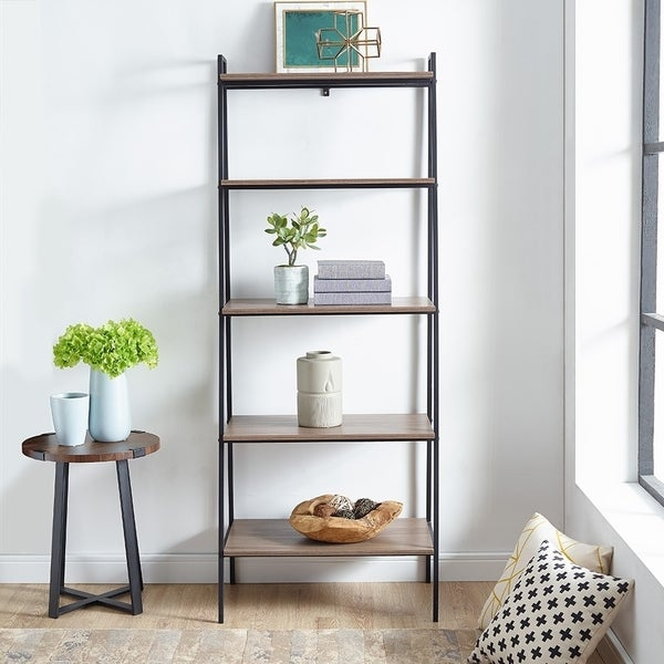 72 Tall Open Ladder Bookshelf