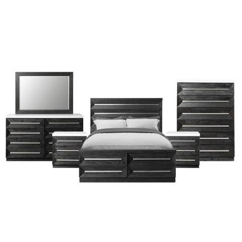 Picket House Furnishings Grace King Storage 6PC Bedroom Set