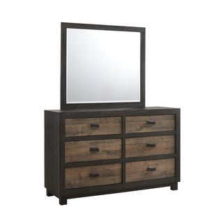 Picket House Furnishings Harrison 6-Drawer Dresser w/ Mirror Set - Brown