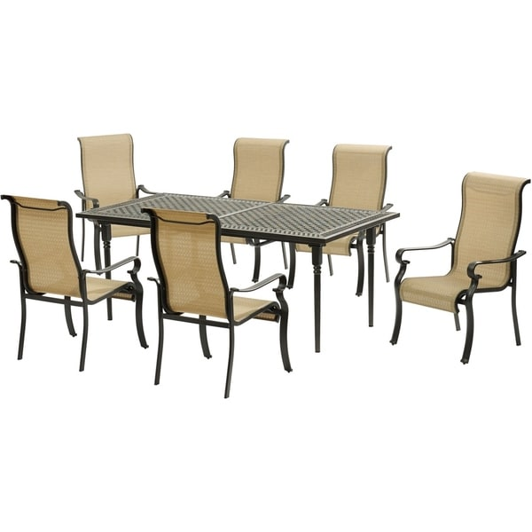 Hanover Brigantine 7-Piece Dining Set with an Expandable Cast-Top Dining Table