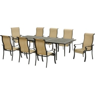 Hanover Brigantine 9-Piece Dining Set with an Expandable Cast-Top Dining Table