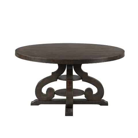 The Gray Barn Fron Holding Brown Rubberwood Round Dining Table