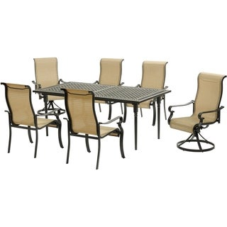 Hanover Brigantine 7-Piece Dining Set with an Expandable Dining Table, 2 Swivel Rockers, and 4 Dining Chairs