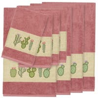 Authentic Hotel and Spa Turkish Cotton Cactus Embroidered Tea Rose 8-piece Towel Set
