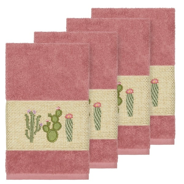 Rose Embroidered Towels: Shop Authentic Hotel And Spa Turkish Cotton Cactus