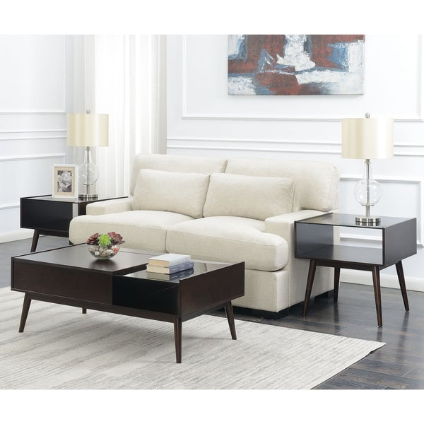 Picket House Furnishings Morgan Mid-Century 3PC Occasional Set-Coffee Table & Two End Tables