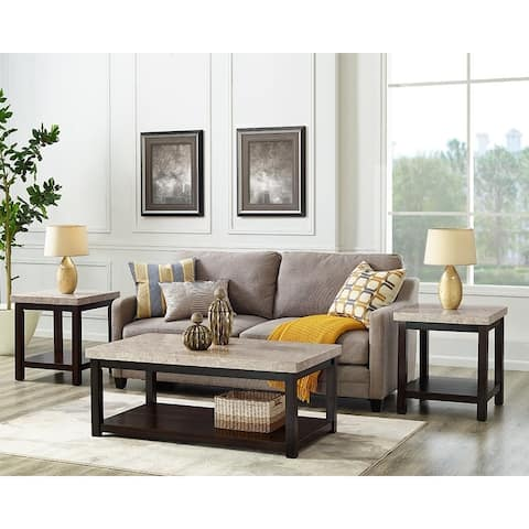 Picket House Furnishings Caleb 3PC Occasional Table Set-Coffee Table & Two End Tables
