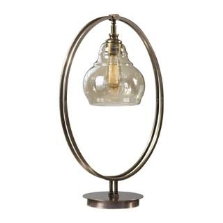 Uttermost Elliptical Antique Brass 1-light Table Lamp