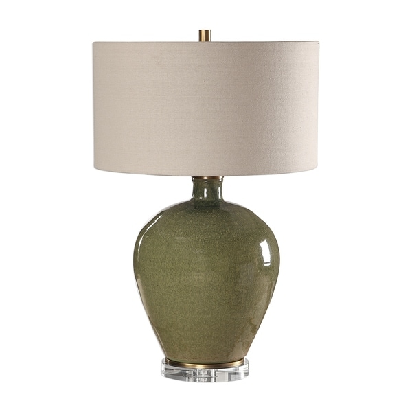 Shop Uttermost Elva Distressed Emerald Green 1 Light Table Lamp