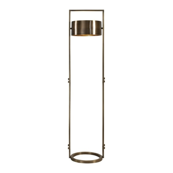 shop uttermost ilario plated antique brass 1-light floor lamp - free shipping today