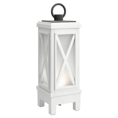 Kichler Lighting Montego Collection 1-light Weathered White LED Bluetooth Portable Lantern