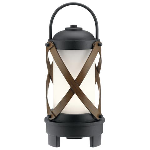 Kichler Lighting Berryhill Collection 1-light Textured Black LED Bluetooth Portable Lantern