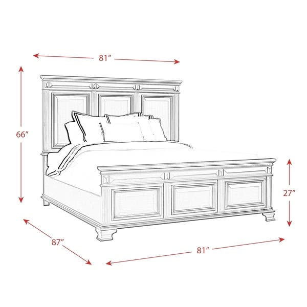 Shop Picket House Furnishings Trent King Panel Bed in ...