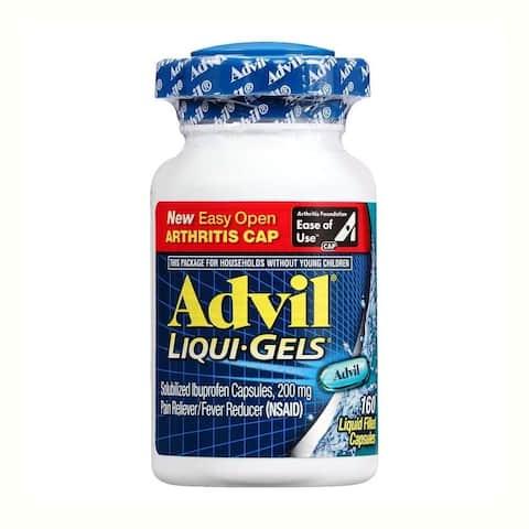 Advil Liqui-Gels Pain Reliever Fever Reducer (160 Liquid Capsules)