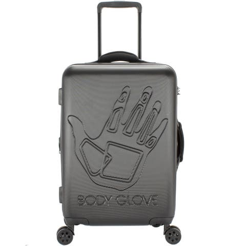 Body Glove Redondo Black 22-inch Carry On Hardside Spinner Suitcase - 9.0 In. X 14.5 In. X 21.5 In.