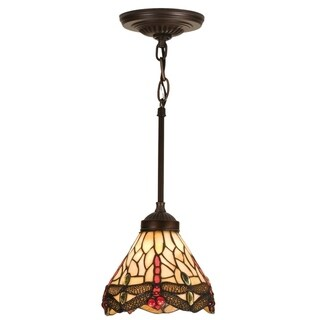 Link to 7 Inch Wide tiffany hanginghead dragonfly Mini Pendant Similar Items in Pendant Lights