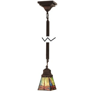 Link to 5 Inch sq prairie dragonfly Mini Pendant.609 Similar Items in Pendant Lights