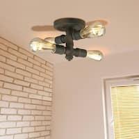 Eglo Wymer 4-Light Ceiling Light with Zinc Finish