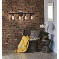 Eglo Wymer 4-Light Bath Vanity Light With Zinc Finish