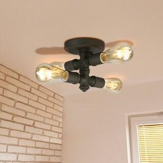 Eglo Wymer 4-Light Ceiling Light with Bronze Finish
