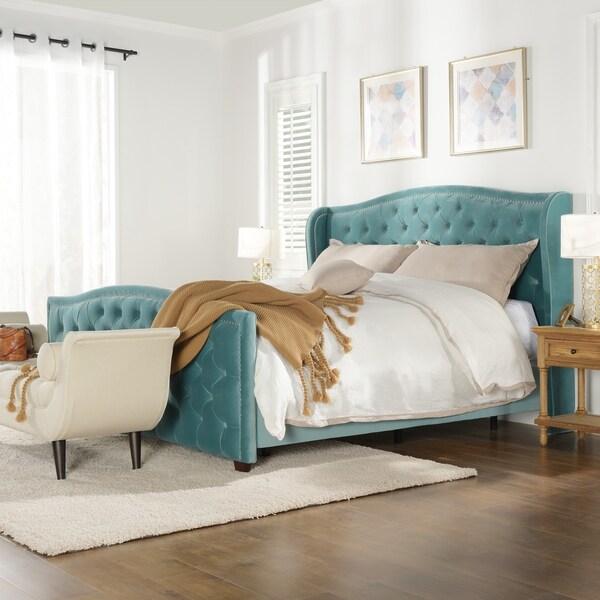 Jennifer Taylor Marcella Tufted Wingback Upholstered Bed