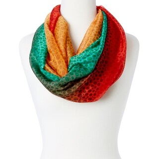 "Womens New Tri-Color Style Silky Soft Stole Fashion Infinity Loop Scarf Wraps - 38"" x 36"" (3 options available)"