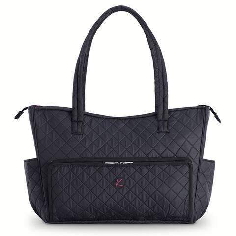 KIOTA Beauty Cosmetic Makeup Bag w/ Makeup Brush Organizer Pocket and removable clear makeup travel bag