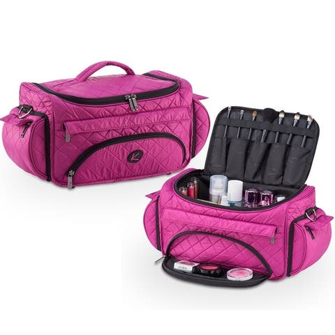 KIOTA Beauty Cosmetic Set Bag w/ Storage Pocket and Outer Organizer