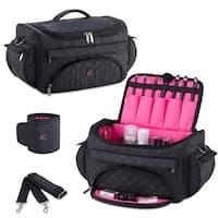 KIOTA Beauty Cosmetic Set Bag w/ Storage Pocket and Outer Organizer