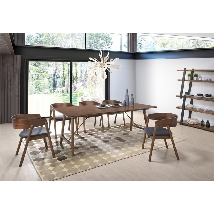 Modrest Oritz Mid Century Modern Walnut Dining Table On Free Shipping Today 22116565