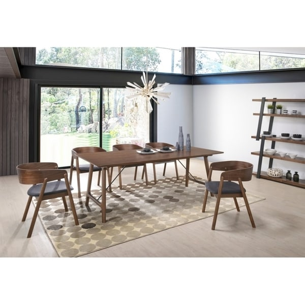 Modrest Oritz Mid Century Modern Walnut Dining Table Free Shipping Today 22116565