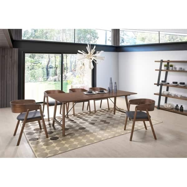Modrest Oritz Mid-Century Modern Walnut Dining Table