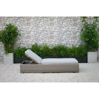 Renava Knox Outdoor Wicker Sunbed Chaise Lounge