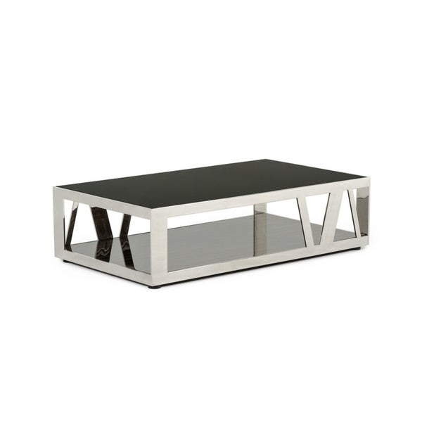 Modrest Upton Modern Square Glass Coffee Table Coffee: Shop Modrest Sherman Modern Ebony Coffee Table
