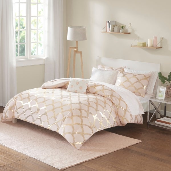 Intelligent Design Kaylee Metallic Comforter and Sheet Set. Opens flyout.