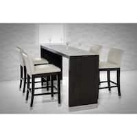 Modrest Silas Modern Wenge Wood Bar Table