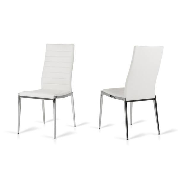 Libby Modern White Leatherette Dining Chair Set Of 2