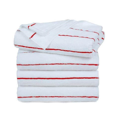 """Ample Decor Extra Absorbent and Extra Long Beach Towels set of 4 - 30"""" x 68"""""""