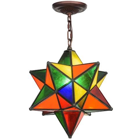 12 Inch Wide moravian star multi-color Pendant