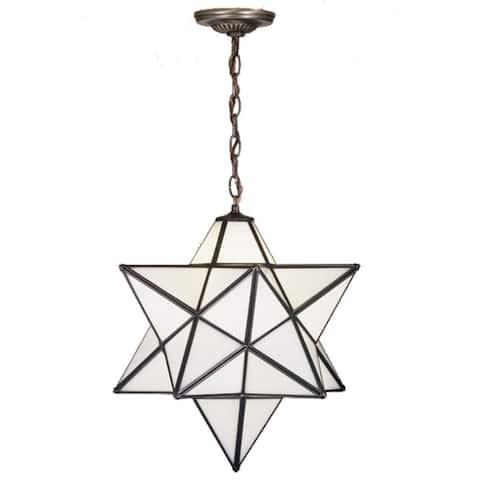 24 Inch Wide moravian star white Pendant