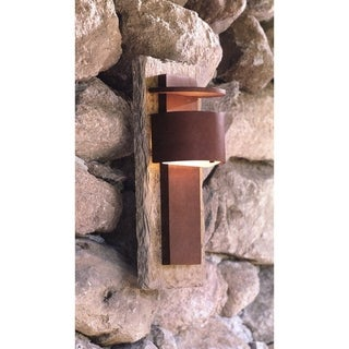 "Design Craft Darius 15"" Dark Sky LED Wall Lantern - Slate and Copper"