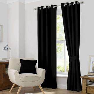 Ample Decor Thermal Insulated Grommet Blackout Curtain Panel Pair