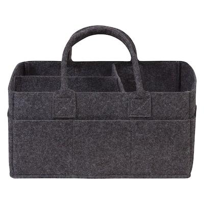 Charcoal Gray Felt Storage Caddy