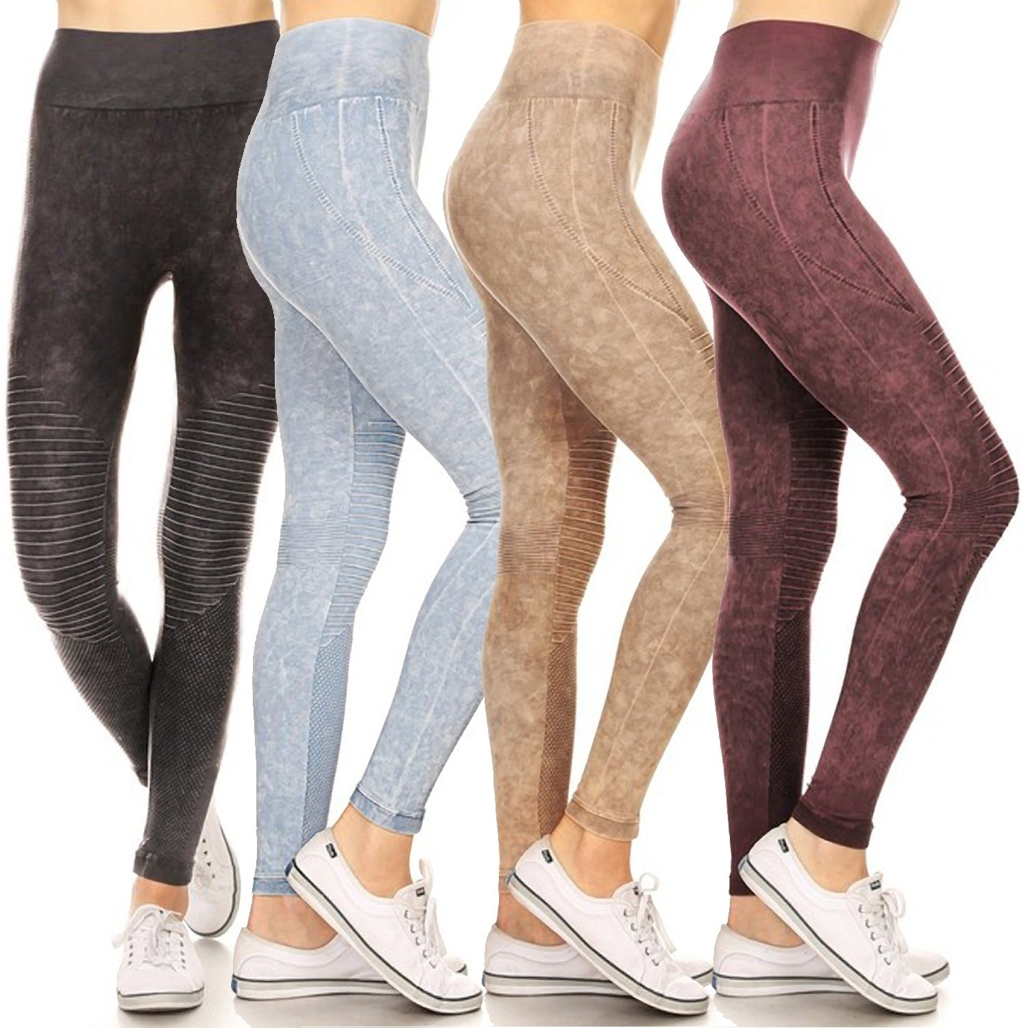 767920383f731 Shop Vintage Wash Moto Detailed Leggings - Free Shipping On Orders Over $45  - Overstock - 22119849