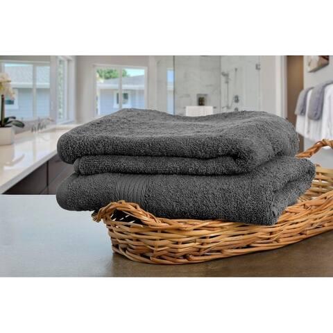 Ample Decor 100% Cotton Extra Absorbent Towels - 2 Pcs Hand Towel Set