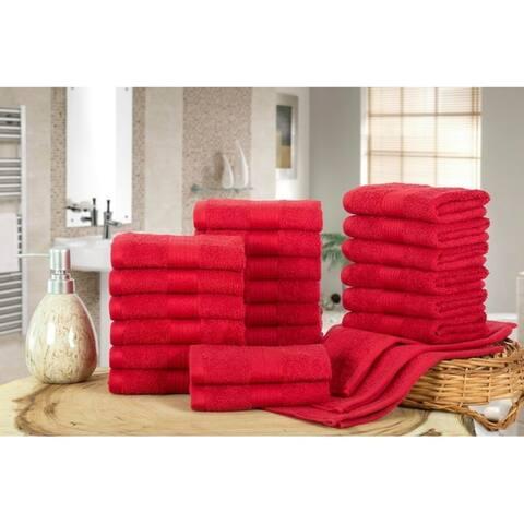 Ample Decor Luxury Hotel Cotton -24 Pcs Washcloth - 12 x 12 Inch