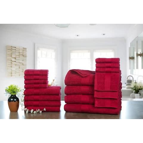 Ample Decor Ringspun Cotton Extra Absorbent Towels-18 Pcs Towel Set - 4 - Bath Towels